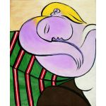 Picasso-Femme aux cheveux jaunes-Algomasquearte