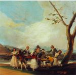 La Gallina ciega, Goya
