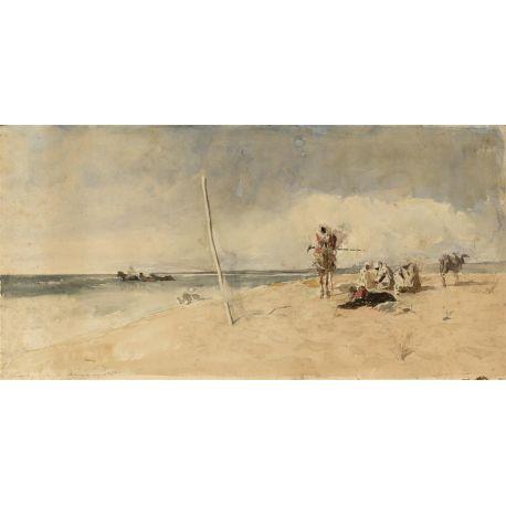 Playa africana, Fortuny, Algomasquearte