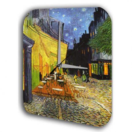 Reloj De Pared De Van Gogh La Terraza De Café Por La Noche