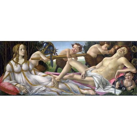 Venus y Marte, Botticelli, algomasquearte