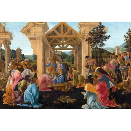 La Adoracion de los Reyes Magos, Botticelli, algomasquearte
