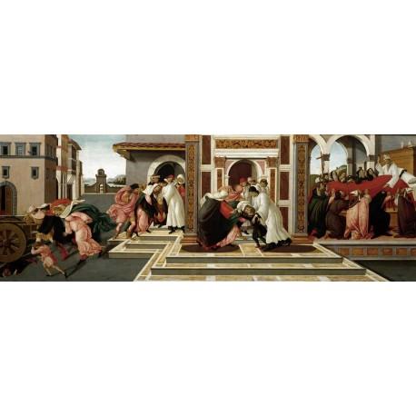 El último milagro y muerte de San Cenobio, Botticelli, Algomasquearte