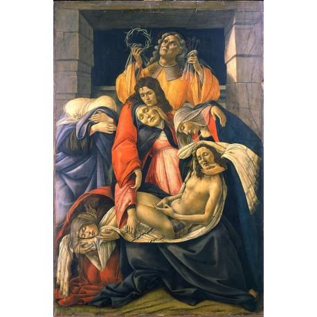 La lamentacion por la muerte de Cristo, Botticelli, Algomasquearte