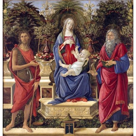 La Virgen con Santos, Botticelli, Algomasquearte