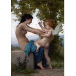 Joven defendiendose de Eros, Bouguereau, Algomasquearte