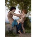 Joven defendiendose de Eros, Bouguereau