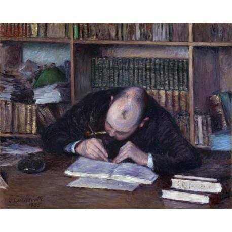 Hombre escribiendo en su estudio, Caillebotte, Algomasquearte