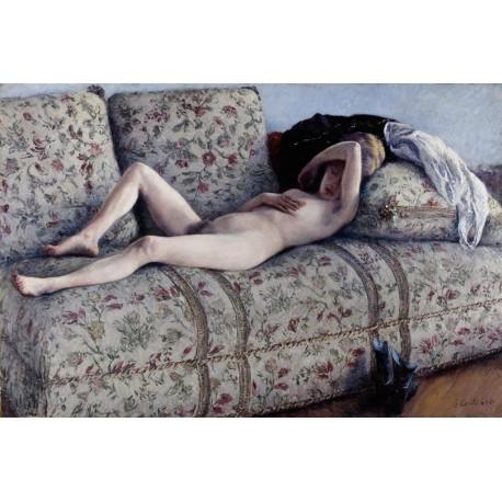 Desnudo en el Sofá, Caillebotte, Algomasquearte