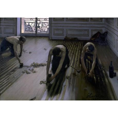 Los acuchilladores de parqué, Caillebotte, Algomasquearte