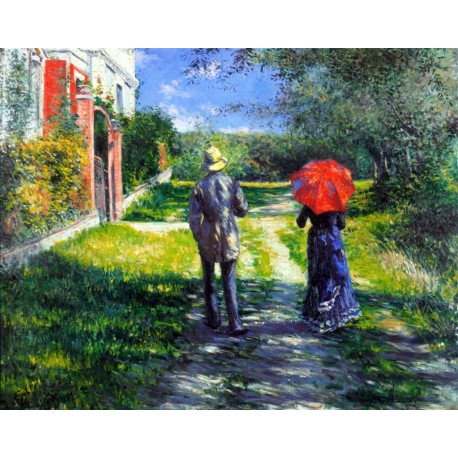 Rising Road, Caillebotte, Algomasquearte