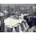 Nieve en los tejados, Caillebotte